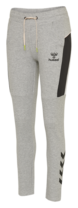 hmlNIRVANA SLIM PANTS, GREY MELANGE, packshot