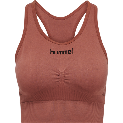 HUMMEL FIRST SEAMLESS BRA WOMEN, MARSALA, packshot