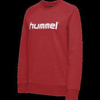 HUMMEL GO COTTON LOGO SWEATSHIRT WOMAN, TRUE RED, packshot