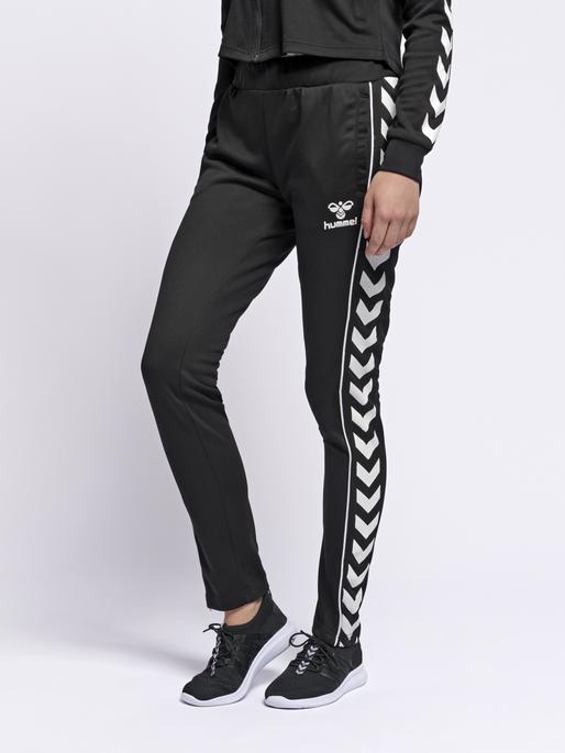 hmlJINA SLIM PANTS, BLACK, model
