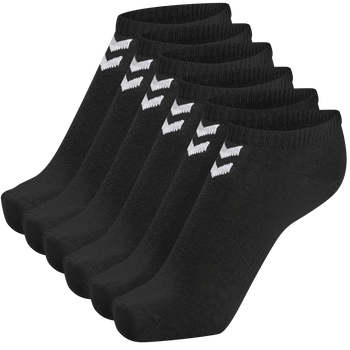 hmlCHEVRON 6-PACK ANKLE SOCKS, BLACK, packshot