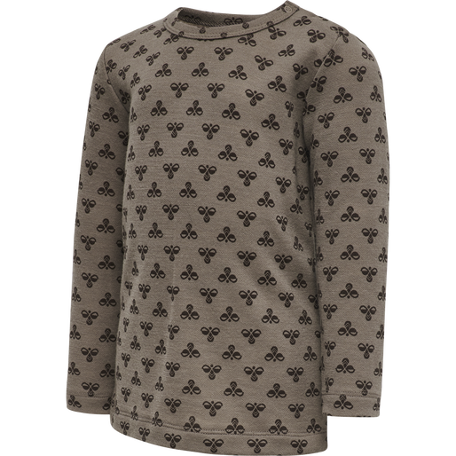 hmlVILMO T-SHIRT L/S, PINE BROWN, packshot