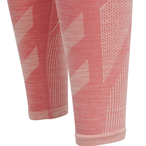 hmlJOY SEAMLESS HIGH WAIST TIGHTS, SUGAR CORAL MELANGE, packshot