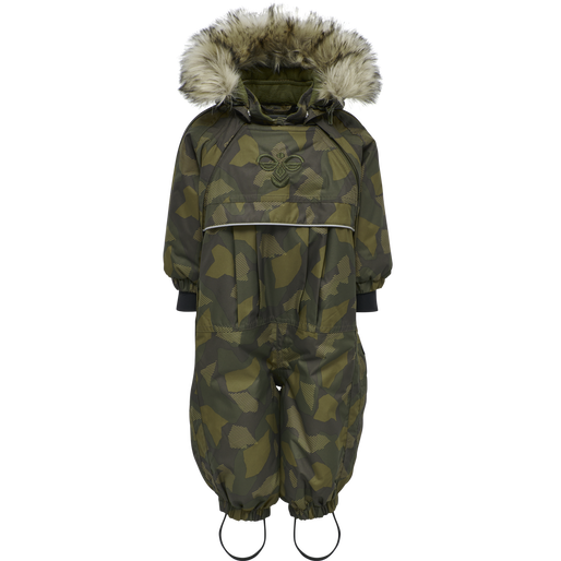 hmlMOON SNOWSUIT, OLIVE NIGHT/ ECRU OLIVE, packshot