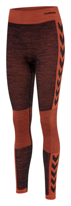 HMLCLEA SEAMLESS TIGHTS, CHILI MELANGE, packshot