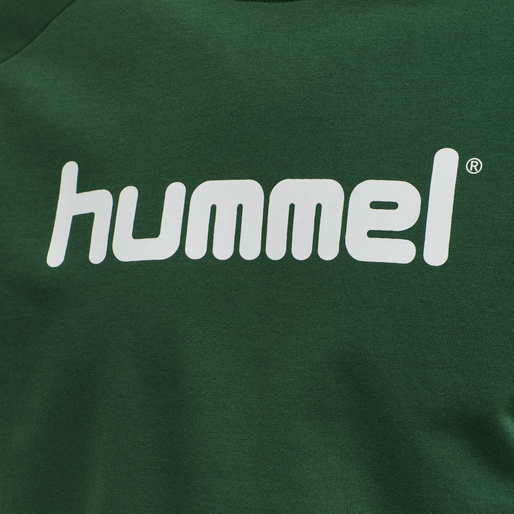 HUMMEL GO COTTON LOGO SWEATSHIRT WOMAN, EVERGREEN, packshot