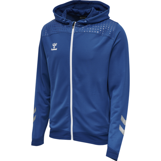 hmlLEAD ZIP POLY HOODIE, TRUE BLUE, packshot