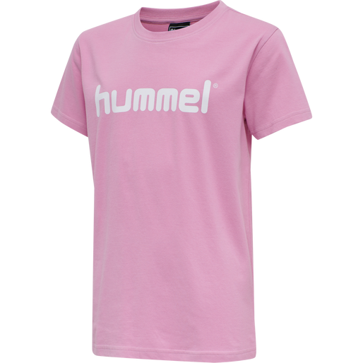 HUMMEL GO KIDS COTTON LOGO T-SHIRT S/S, COTTON CANDY, packshot