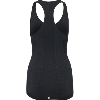 HMLCLEA SEAMLESS TOP AW18, BLACK, packshot