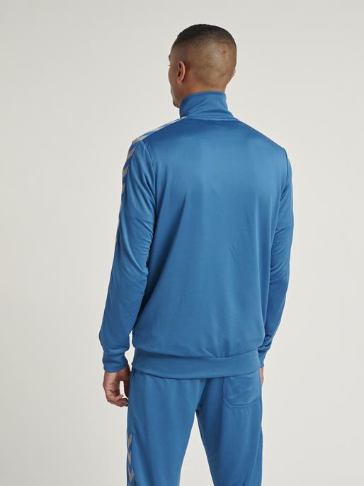 HMLNATHAN ZIP JACKET, BLUE SAPPHIRE, model