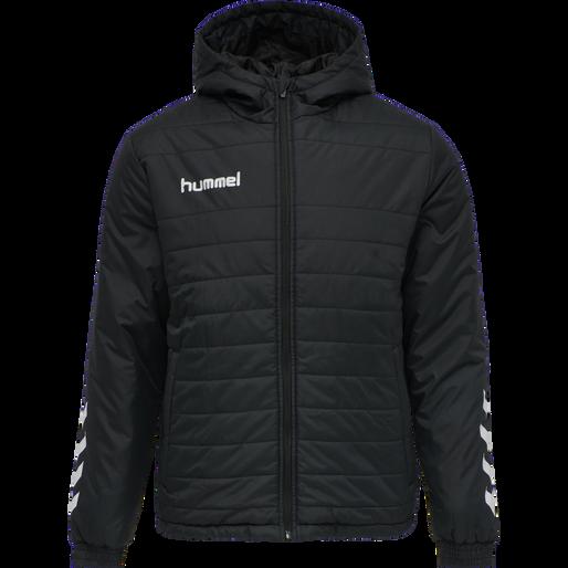 hmlPROMO SHORT BENCH JACKET, BLACK, packshot