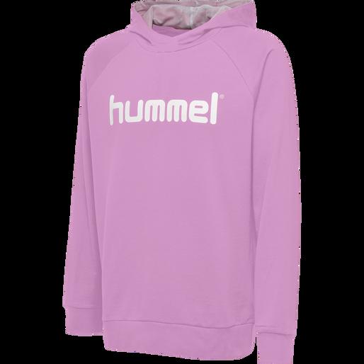HUMMEL GO KIDS COTTON LOGO HOODIE, ORCHID, packshot