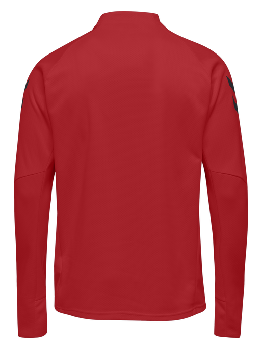 TECH MOVE KIDS HALF ZIP SWEATSHIRT, TRUE RED, packshot