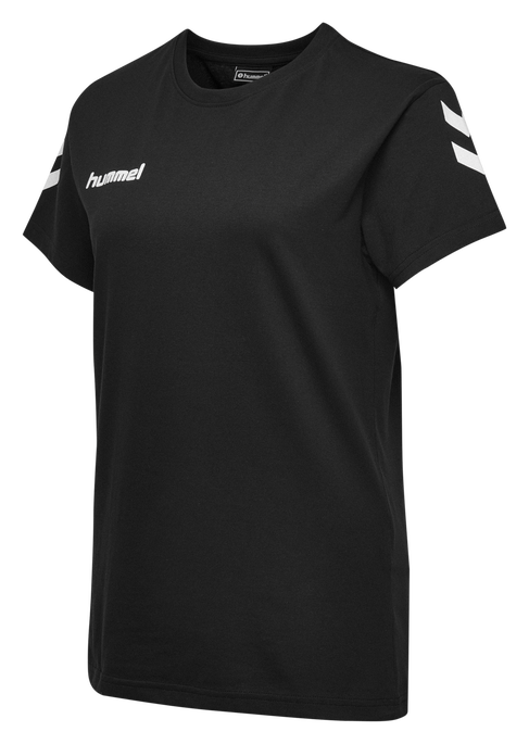 HUMMEL GO COTTON T-SHIRT WOMAN S/S, BLACK, packshot