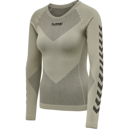 HUMMEL FIRST SEAMLESS JERSEY L/S WOMAN, LONDON FOG, packshot