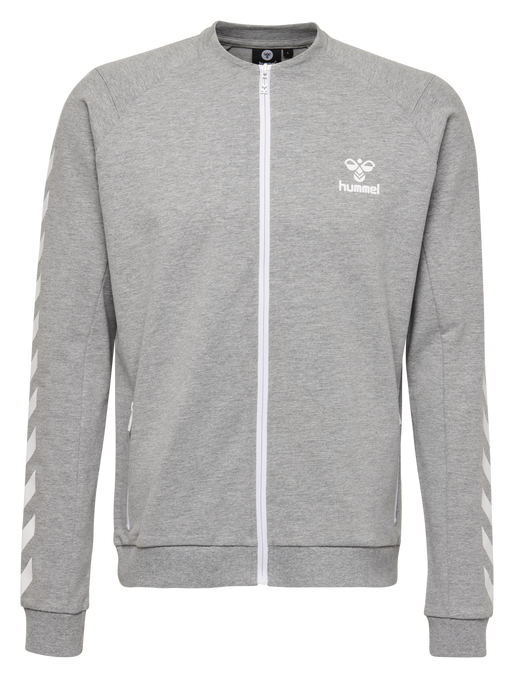 HMLRAY ZIP JACKET, GREY MELANGE, packshot