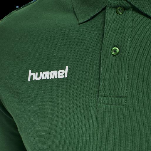 HUMMEL GO COTTON POLO, EVERGREEN, packshot