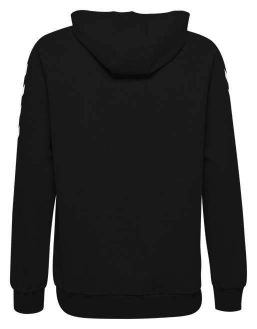 HUMMEL GO COTTON HOODIE, BLACK, packshot