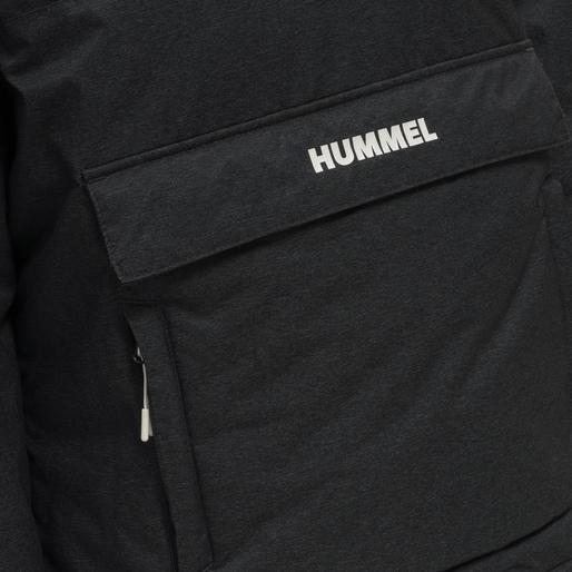 hmlAYDA ANORAK, BLACK MELANGE, packshot