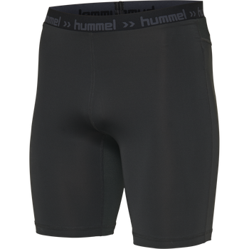 HUMMEL FIRST PERFORMANCE TIGHT SHORTS, BLACK, packshot