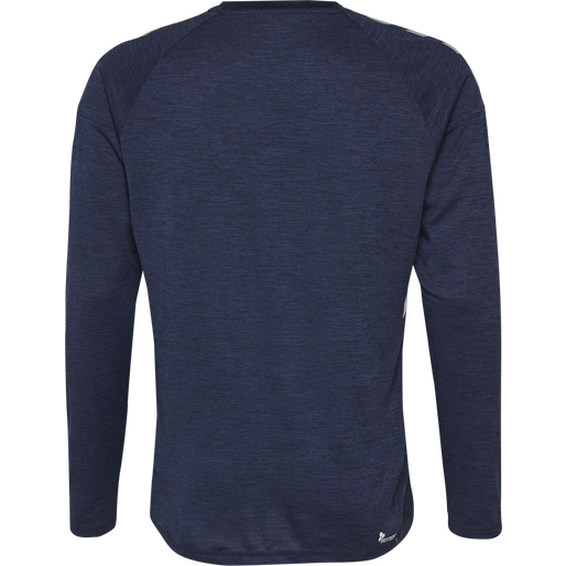 TECH MOVE KIDS JERSEY L/S, MARINE MELANGE, packshot