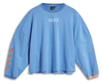 hmlWILLY RUFF NECK T-SHIRT L/S, ATOMIC BLUE, packshot