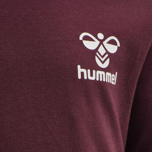 hmlMAUILINO T-SHIRT L/S, CHOCOLATE TRUFFLE , packshot