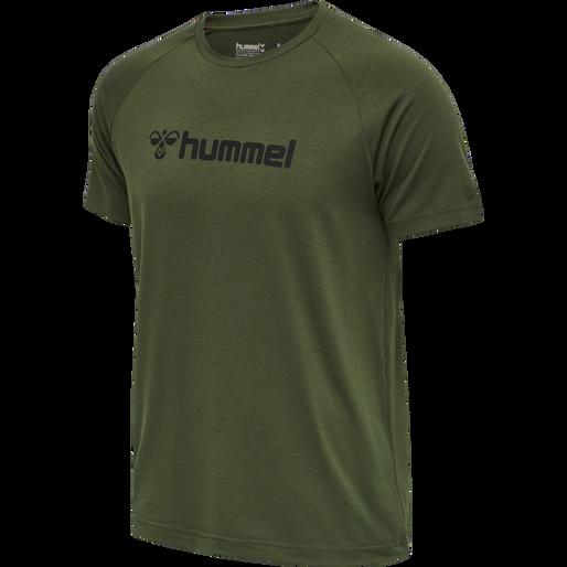HMLMESI T-SHIRT S/S TEE, FOREST NIGHT, packshot