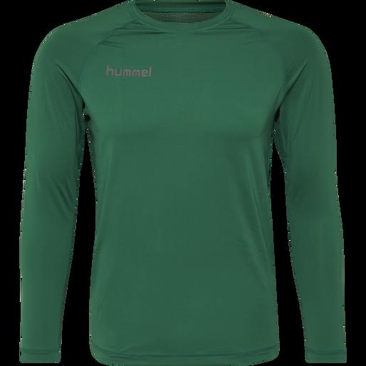 HUMMEL FIRST PERFORMANCE JERSEY L/S, EVERGREEN, packshot