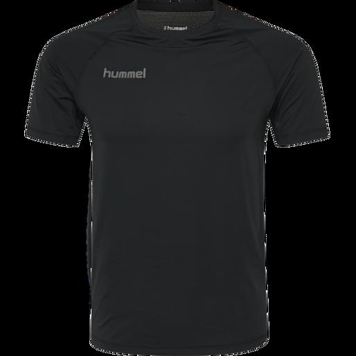 HUMMEL FIRST PERFORMANCE JERSEY S/S, BLACK, packshot