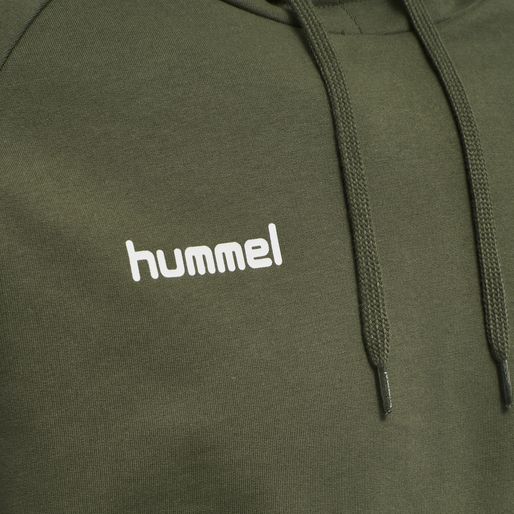 HUMMEL GO COTTON HOODIE, GRAPE LEAF, packshot