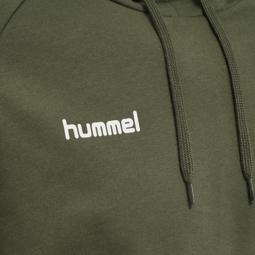 HUMMEL GO COTTON HOODIE, GRAPE LEAF, packshot