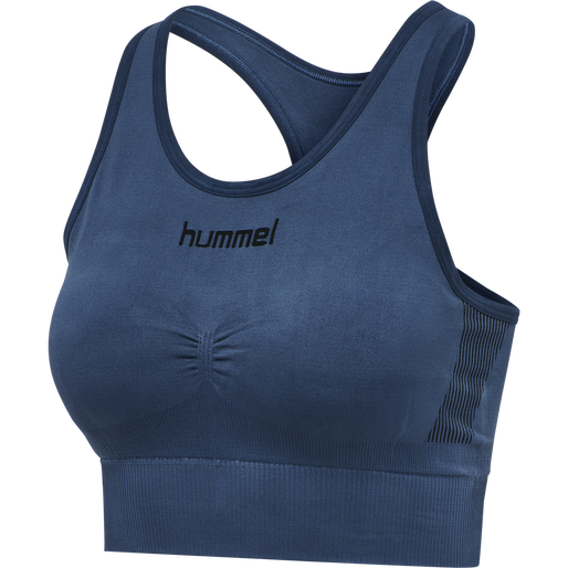 HUMMEL FIRST SEAMLESS BRA WOMEN, DARK DENIM, packshot