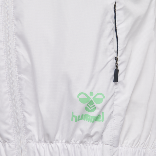 hmlTROPHY ZIP JACKET, WHITE, packshot