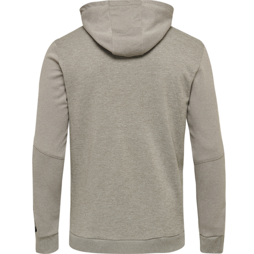 hmlAUTHENTIC POLY ZIP HOODIE, GREY MELANGE, packshot