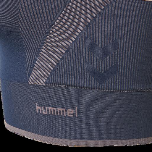 hmlCALYPSO SEAMLESS SPORTS TOP, BLACK IRIS, packshot