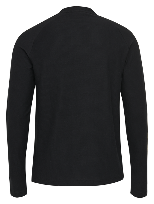 hmlJAREL T-SHIRT L/S, BLACK, packshot