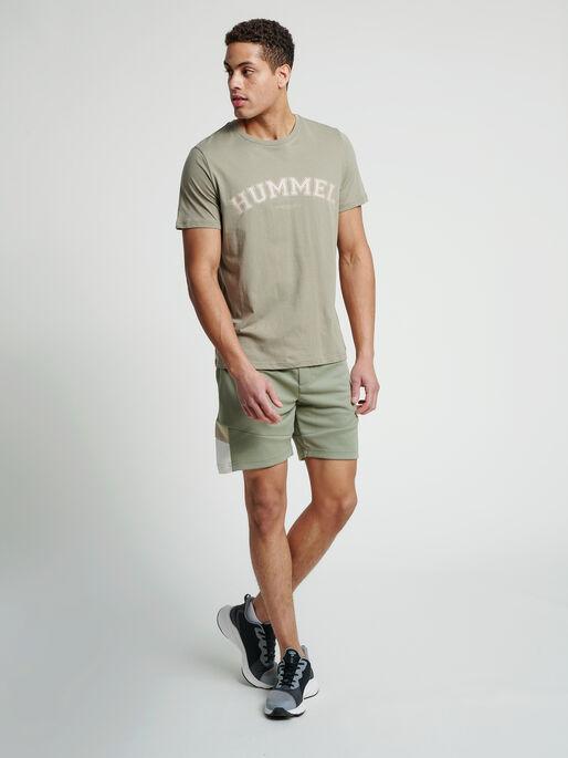 hmlVARSITY T-SHIRT, VETIVER, model