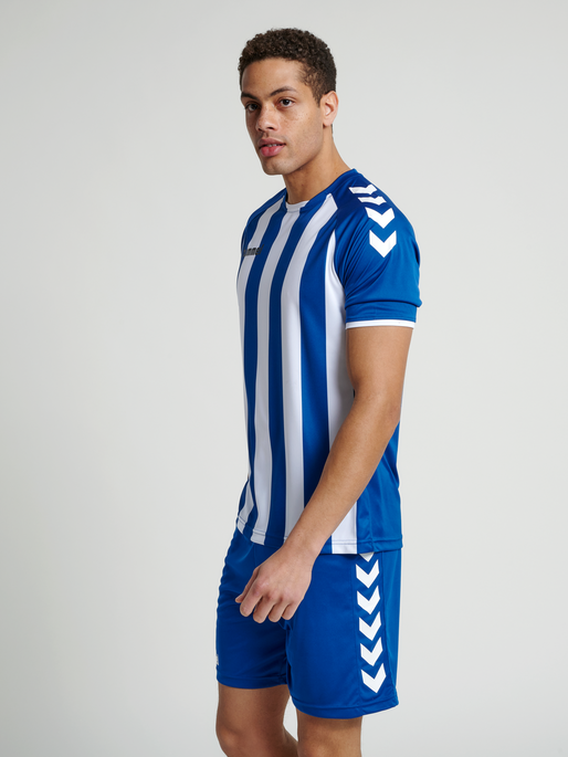 CORE STRIPED SS JERSEY, TRUE BLUE/WHITE, model
