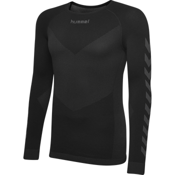 HUMMEL FIRST SEAMLESS KIDS JERSEY L/S , BLACK, packshot