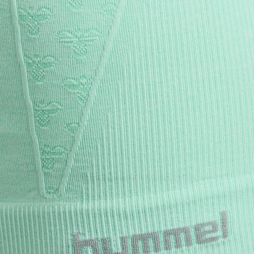 CLASSIC BEE CI SEAMLESS TOP, ICE GREEN MELANGE, packshot