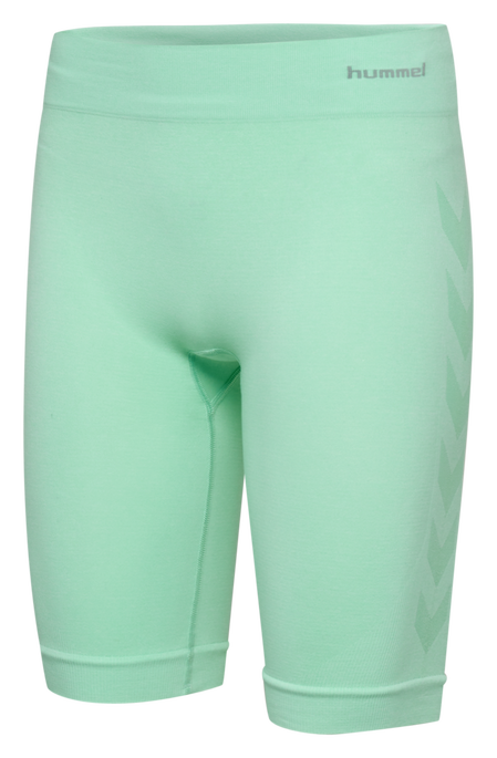 hmlCI SEAMLESS CYCLING SHORTS, ICE GREEN MELANGE, packshot