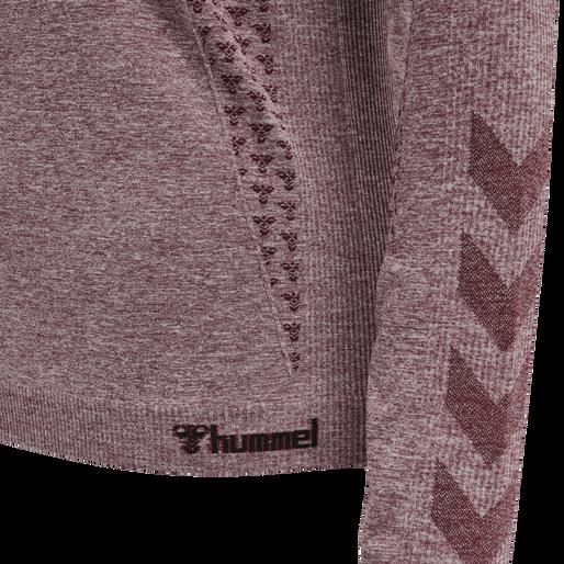 hmlCI SEAMLESS T-SHIRT L/S, NOCTURNE MELANGE, packshot