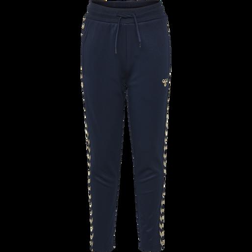 HMLKICK PANTS, BLACK IRIS/GOLD, packshot
