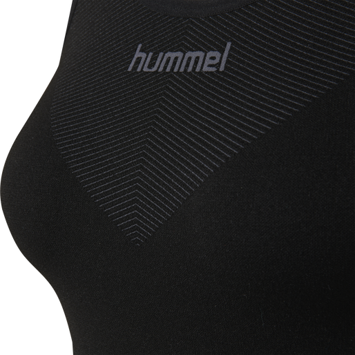 HUMMEL FIRST SEAMLESS TANK TOP WOMAN, BLACK, packshot