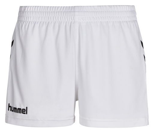 CORE WOMENS SHORTS, WHITE PR, packshot