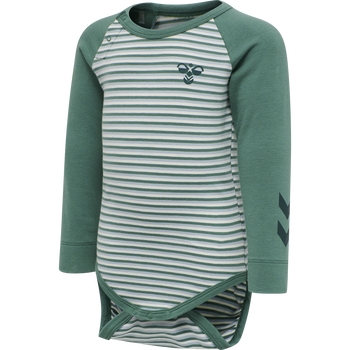 hmlAKSEL BODY L/S, BLUE SPRUCE, packshot