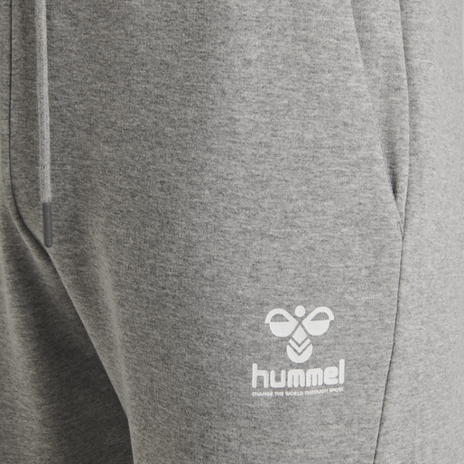 hmlISAM REGULAR PANTS, GREY MELANGE, packshot