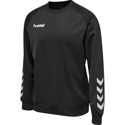 hmlPROMO POLY SWEATSHIRT, BLACK, packshot