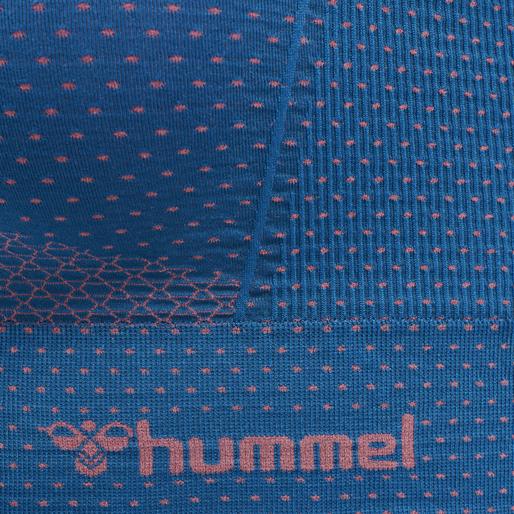 hmlFELICITY SEAMLESS SPORTS TOP, MYKONOS BLUE, packshot